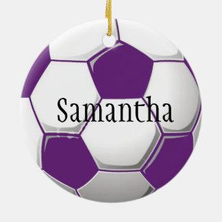Personalized Purple Soccer Ornament