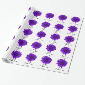 Personalized Purple Sunflower Sweet 16 Gift Wrap