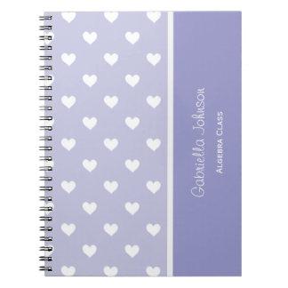 Personalized: Purple Sweetheart Notebook