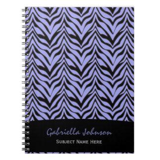 Personalized:Purple Zebra Print Notebook