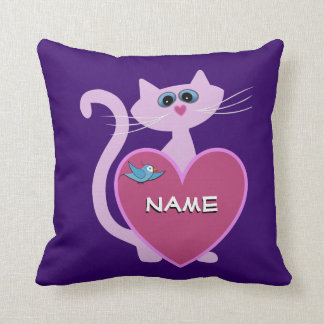 Personalized Putty Cat Pillow Throw Cushion