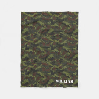 Personalized Puzzle Camo Autism Awareness Fleece Blanket