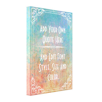 Personalized quotations canvas print