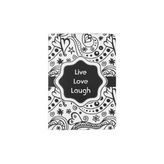 Personalized Quote with Hearts Love Doodle Pattern Passport Holder