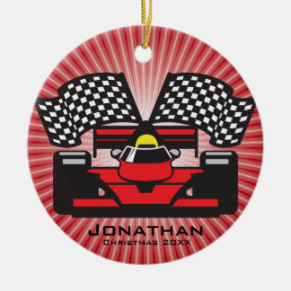 Personalized Race Car Ornament