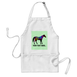 Personalized Race Horse Design On Mint Green Standard Apron