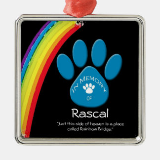 Personalized Rainbow Bridge Pet Rememberance Ornam Christmas Ornament