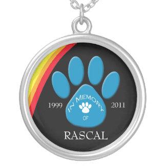 Personalized Rainbow Commemorative Pet Necklace