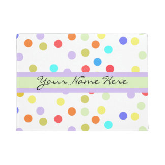 Personalized Rainbow Confetti for Her Doormat