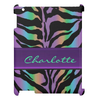 Personalized Rainbow Psychedelic Tiger Skin Case iPad Covers
