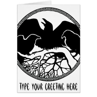 Personalized Raven Cards Cool Crow Art Cards