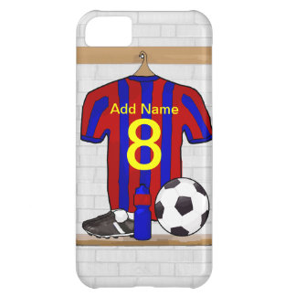 Personalized Red and Blue Football Soccer Jersey iPhone 5C Case