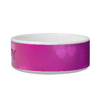 Personalized Red and Pink Hearts Bowl