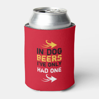 Personalized Red and yellow beer quote Can Cooler