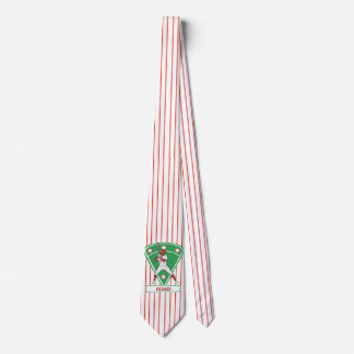 Personalized red baseball star tie