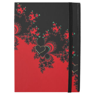 Personalized Red Black Heart Fractal iPad Pro Case