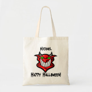 Personalized Red Devil Trick or Treat Tote Bag