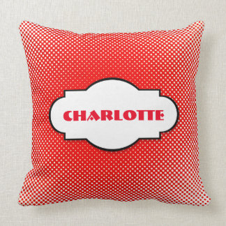 Personalized Red Dots Minimal Pillow