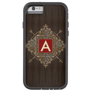 Personalized red emblem monogram archery arrows tough xtreme iPhone 6 case