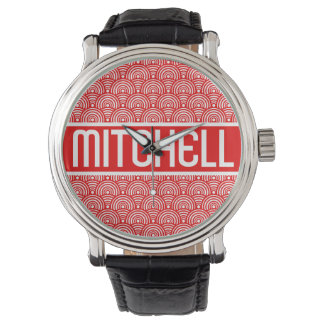Personalized Red Fish Scale KB Watch