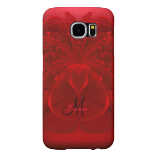 Personalized Red Fractal Monogram Galaxy S6 Case Samsung Galaxy S6 Cases