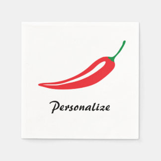 Personalized red hot chili pepper paper napkins disposable napkin