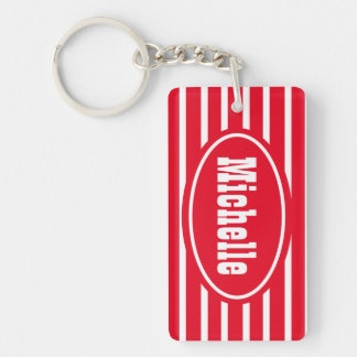 Personalized Red HS Western Key Ring
