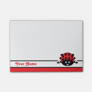 Personalized Red Ladybug Post-it Notes