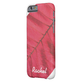 PERSONALIZED RED LEAF (CLOSE UP) PHONE CASE