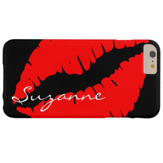 Personalized Red Lips Barely There iPhone 6 Plus Case