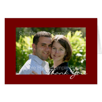 Personalized Red Photo Wedding Thank You Cards
