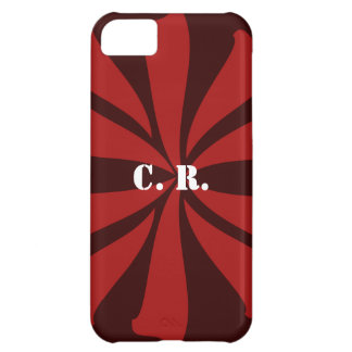 Personalized Red Swirl iPhone 5C Case