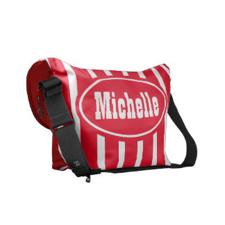 Personalized Red VS Western Commuter Bags