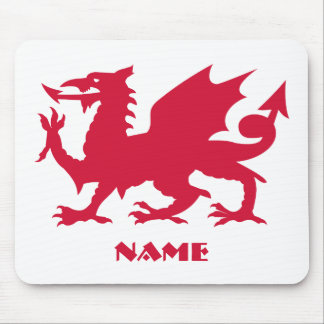Personalized Red Welsh Dragon Mouse Mat