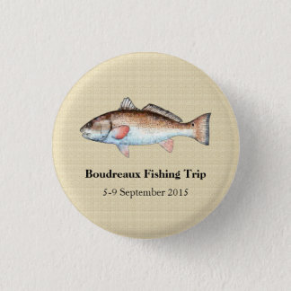 Personalized Redfish Fishing Event 3 Cm Round Badge