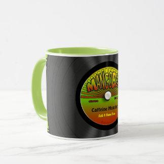 Personalized Reggae Vinyl Record Mug