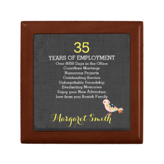 personalized Retirement keepsake box custom