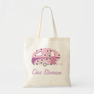 Personalized Retro Art Caravan Owner's Budget Tote