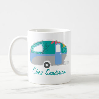 Personalized Retro Caravan Art Mugs