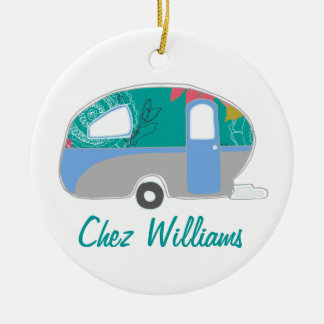 Personalized Retro Design Caravan Ornaments