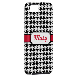 Personalized Retro Houndstooth iPhone Case Gift