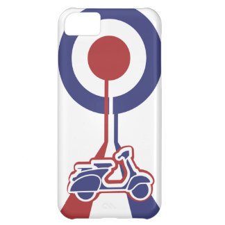 Personalized Retro look scooter mod target design Case For iPhone 5C