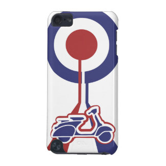 Personalized Retro look scooter mod target design iPod Touch (5th Generation) Cases