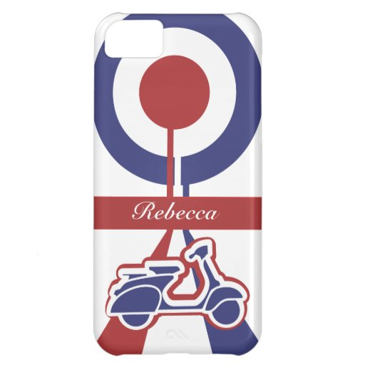 Personalized Retro look scooter mod target design iPhone 5C Case
