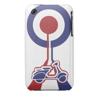 Personalized Retro look scooter mod target design Case-Mate iPhone 3 Cases