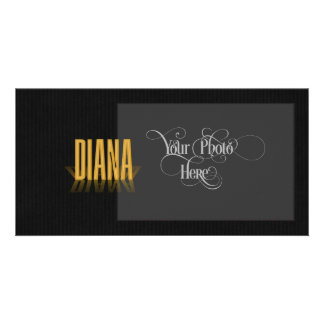 Personalized Retro Movie Poster Diana Gold Photo Card Template