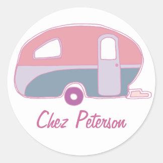 Personalized Retro Vintage Caravan Design Stickers