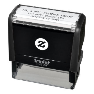 Personalized Return Address Casual Text Self-inking Stamp