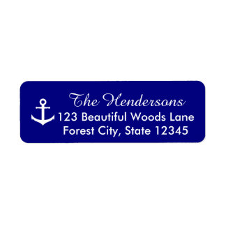 Personalized Return Address Labels with Anchor