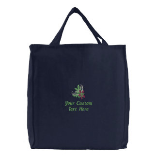 Personalized Reusable Shopping Bag, Eco Friendly Embroidered Tote Bag